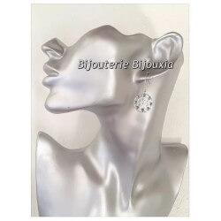 Boucles D'oreilles Pendantes Pierre turquoise - Argent 925/000 - Bijoux Femme