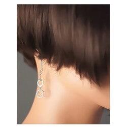 Boucles D'oreilles Ronds Cristal Zirconium Argent Massif 925/1000 Bijoux Femme