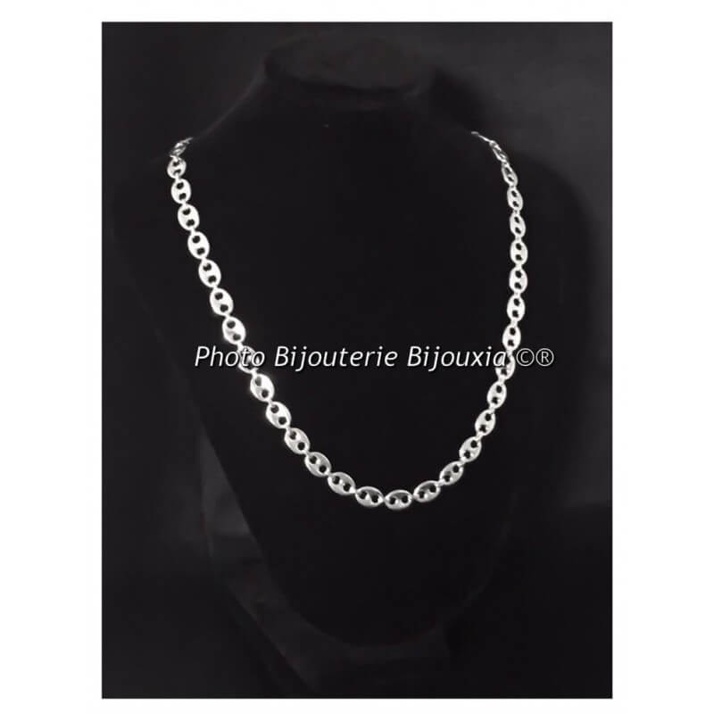 collier homme large