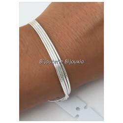 Bracelet Multi-Rangs Argent Massif 925/1000 Poinçonné - Bijoux femme