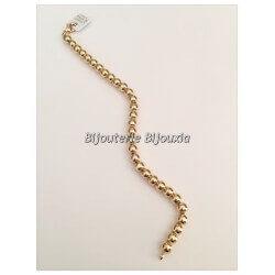 Bracelet Moderne Maille Boules Plaqué Or 18 carats Garanti  NEUF  Bijoux Femme