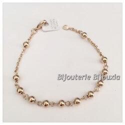 Bracelet Boules Plaqué Or 18 carats Garanti  NEUF  Bijoux Femme