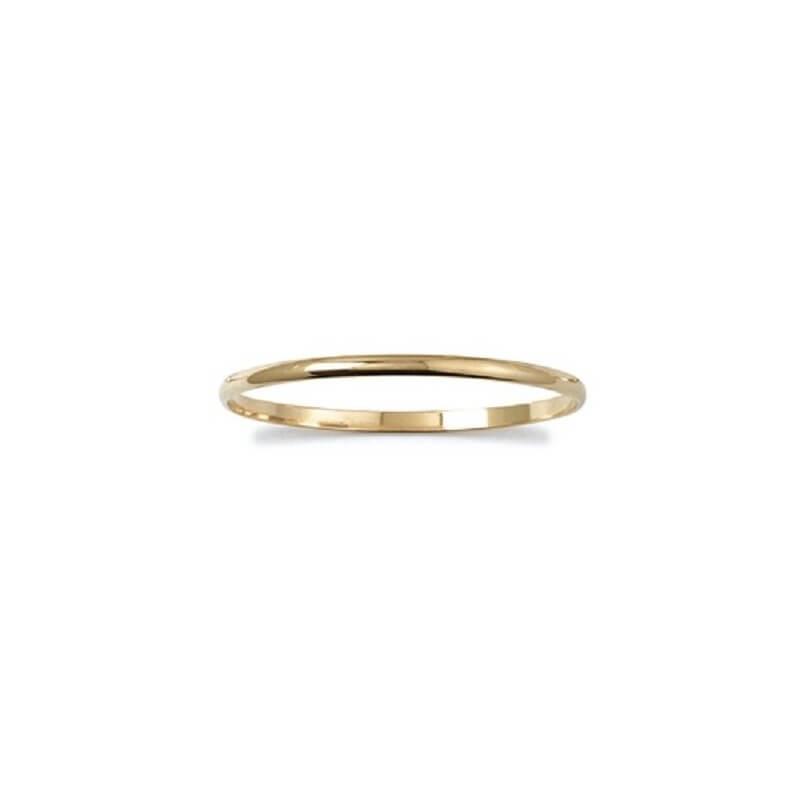 Bracelet Jonc 4MM x 6,2 CM Plaqué Or 18 Carats Garanti 10ans - Bijoux Femme