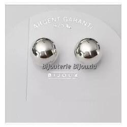 Boucles D'oreilles Boules 8 MM Argent Massif 925/1000 Bijoux Femme