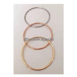 Bracelets Lot 3 joncs Acier & Plaqué Or 750/1000  6,6 cm  Bijoux Femme