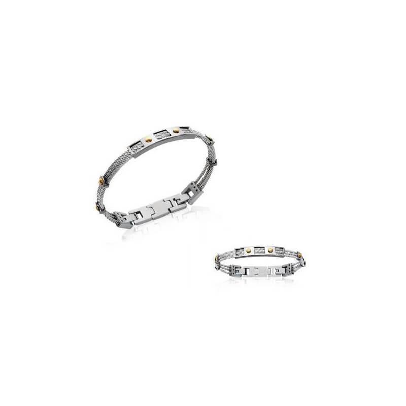 "Bracelet Homme ""Tendance"" en Acier inoxydable 316 L - Carbone -  Bijoux NEUF"
