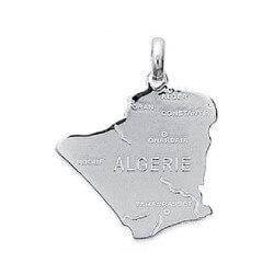 Pendentif Carte ALGERIE  En Argent Massif 925/1000 Bijoux NEUF HOMME/FEMME