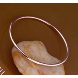 Bracelet JONC  Moderne Plaqué Or ROSE 18 Carat & Acier 6,2 CM Bijoux Femme-