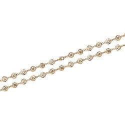 Bracelet Maille souple Ciselé - Plaqué Or 18carats Garanti 10 Ans Bijoux Femme
