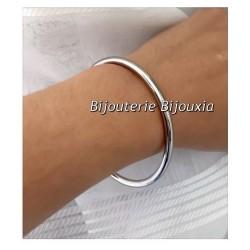 Bracelet Jonc Épais  6,6 cm En Acier Inoxydable 316L  Bijoux Femme -NEUF
