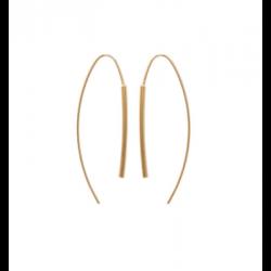 Boucles D'oreilles  pendantes crochets Plaqué Or 18 carats Bijoux Femme