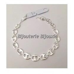 Bracelet Grain De Café  En Argent Massif 925/000 Rhodié Bijoux Femme