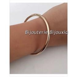 Bracelet Jonc Épais  Plaqué Or 18 Carats Garanti 10 Ans 6,6cm  Bijoux Femme