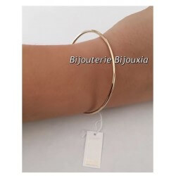 Bracelet Jonc Rigide Plaqué Or 18 Carats Garanti 10 Ans  6,6cm Bijoux Femme