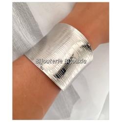 Bracelet Jonc Manchette  Large Acier Inoxydable 316L Bijoux Femme