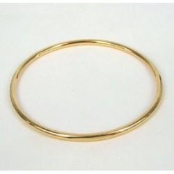 Bracelet Jonc Épais Plaqué Or 18 Carats Garanti 10 Ans 6,2cm Bijoux Femme