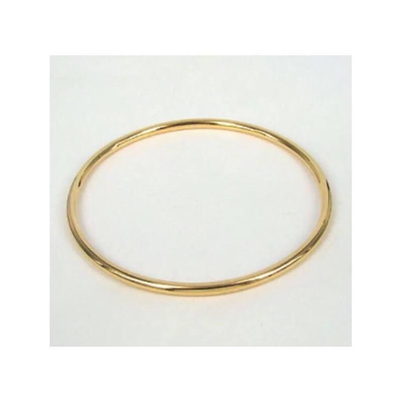 grande qualité plusieurs couleurs 100% de qualité Bracelet Jonc Épais Plaqué Or 18 Carats 6,2 cm Bijoux