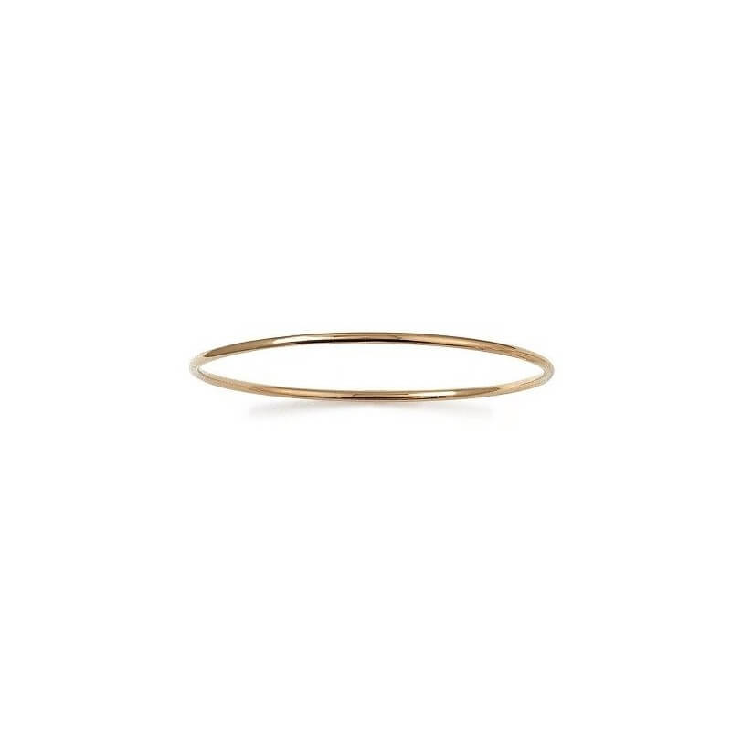 Bracelet Jonc Rigide Plaqué Or 18 Carats Garanti 10 ans  6,2cm  Bijoux Femme