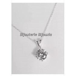 Magnifique Collier Diamand Zirconium - Argent Massif 925/000 Rhodié Bijoux Femme