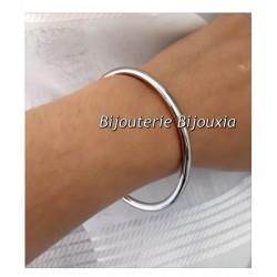 Bracelet Jonc Epais   6,2cm En Acier Inoxydable 316 L Bijoux Femme NEUF