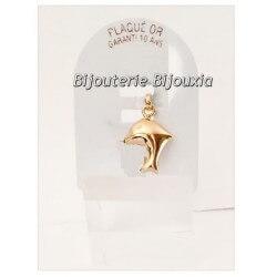 Pendentif Dauphin Plaqué Or 18 Carats 750/1000 Bijoux Enfant