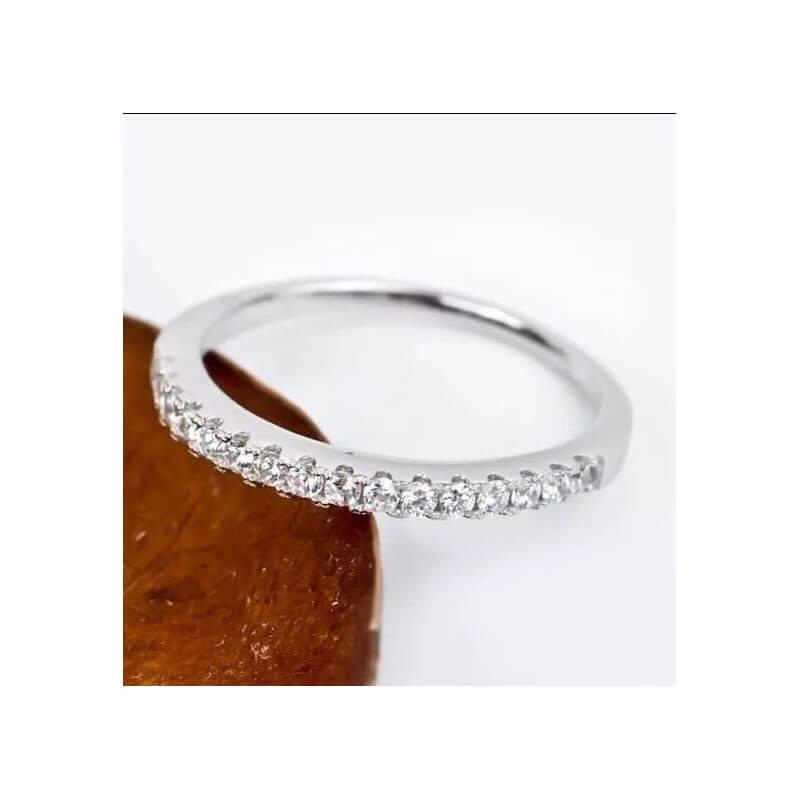 Bague Sertie de Cubics De Zirconium  Argent Massif 925/000 Rhodié Bijoux T56