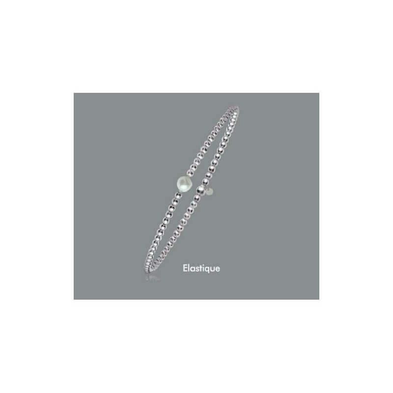 Bracelet Billes & Perle naturelle Argent Massif 925/000  Bijoux Femme Neuf