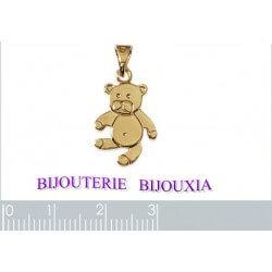 Collier Petit Ourson Plaqué Or 18 Carats 750/1000 Garanti 10 Ans Bijoux Enfant