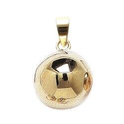 Pendentif Moderne Boule Plaqué Or 18 Carats 750/1000 Garanti 10 Ans Bijoux