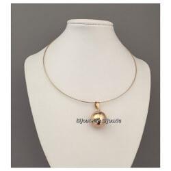 Collier Moderne Boule Plaqué Or 18 Carats 750/1000 Garanti 10 Ans Bijoux