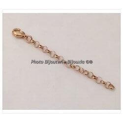 Apprêt extension chaînette Jaseron Plaqué or 18 Carats Bijoux bracelet/Collier