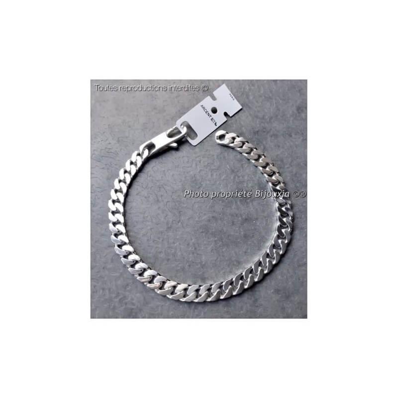 magasin d'usine 853ae f5382 Bracelet Maille Gourmette 20CM x 6MM Argent Massif 925/1000 Bijoux MIXTE