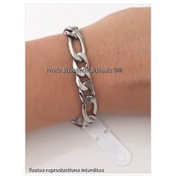 Bracelet Maille Figaro Large 21 CM X 8MM Homme Acier inoxydable 316L Bijoux