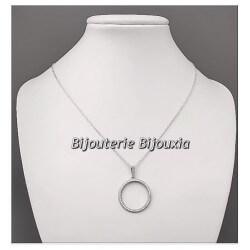 Magnifique Pendentif Microserti-Argent Massif 925/1000 & Zirconium Bijoux Femme