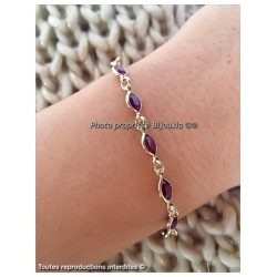 Bracelet cristal De Swarovski  Plaqué Or 18 Carats Garanti 10 Ans Bijoux Femme