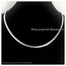 Collier Maille Haricot  Argent Massif 925/1000  Poinçonné  Bijoux femme