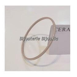 Original -  Bracelet Jonc Pure Céramique de couleur GRIS  Bijoux Femme