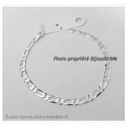 Bracelet Maille Figaro 4mm x 21cm  Argent Massif 925/1000 Poinçonné  Bijoux