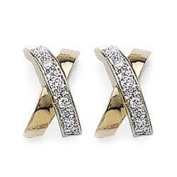 Boucle D'oreilles Oxyde De Zirconium Plaqué Or 18 carats 3 Microns Bijoux Femme