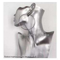 Créoles larges 6 cm   Acier Inoxydable 316 L   Bijoux Femme