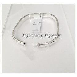 Bracelet Jonc Carré Ouvrable 6,2 CM Argent Massif 925/1000 Bijoux Femme