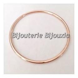 Bracelet Jonc Épais 6,6CM Plaqué Or ROSE 18 Carats Garanti 10 Ans Bijoux Femme