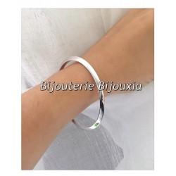 Bracelet Jonc Épais  6,2 cm  Argent Massif 925/000 Poinçon Bijoux Femme