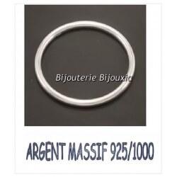Bracelet Jonc Lisse épaisseur 4,5 MM - 6,2CM Argent Massif 925/1000 Bijoux Femme