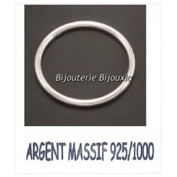 Bracelet Jonc Lisse épaisseur 4,5 MM 6,6CM Argent Massif 925/1000 Bijoux Femme