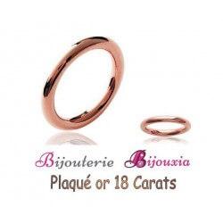 Bague Alliance ronde Lisse Plaqué or Rose 18 CARATS 750/000 Bijoux femme CHOIX