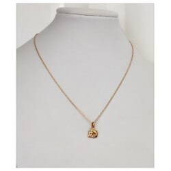 Collier chaîne + pendentif Cheval - Plaqué or 18 CARATS Garanti 10 ANS - Bijoux