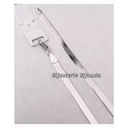 Collier Maille Miroir 42CM Argent Massif 925/1000  Bijoux Femme  Poinçonné