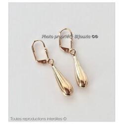 Boucles D'oreilles Dormeuses Goutte d'eau Plaqué or 18 carats Bijoux Femme