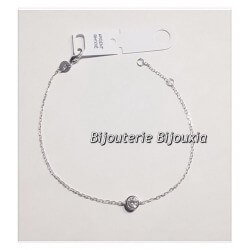 Bracelet fin Cristal  Oxyde de Zirconium  Argent 925/000 - Rhodié Bijoux Femme